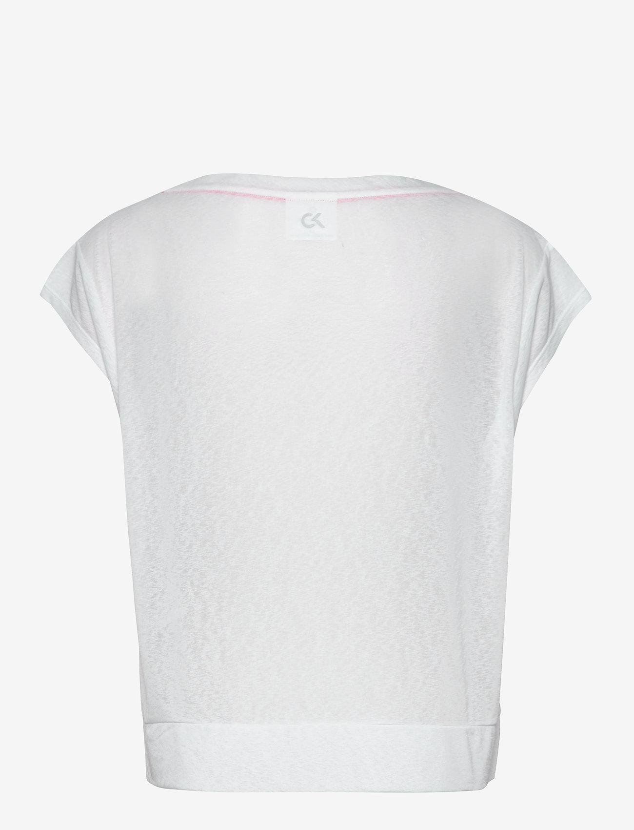 Calvin Klein Performance - CROPPED SHORT SLEEVE T-SHIRT - t-shirts - bright white - 1