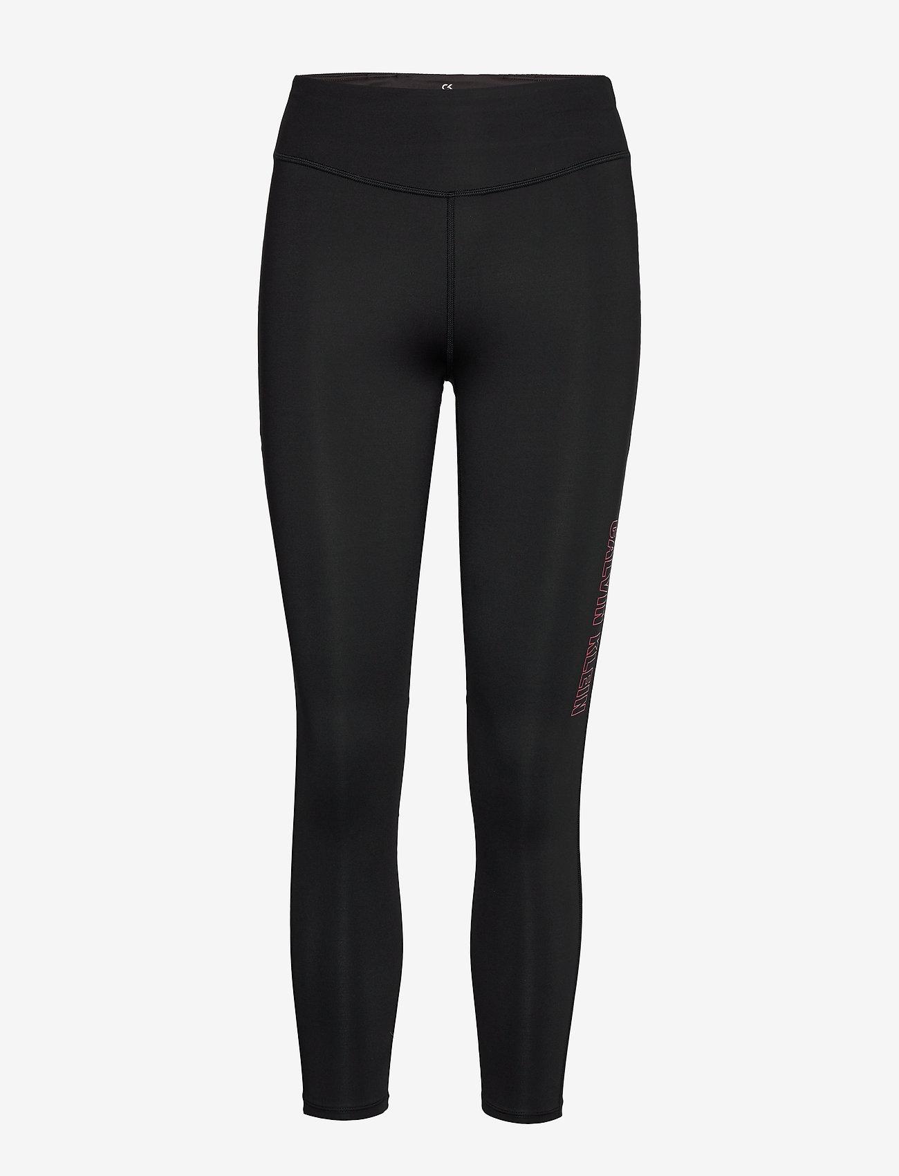 Calvin Klein Performance - 7/8 TIGHT - running & training tights - ck black - 0