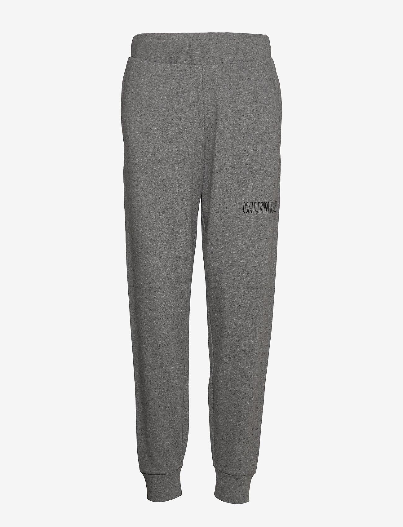 Calvin Klein Performance - KNIT PANTS - pants - med grey heather - 0