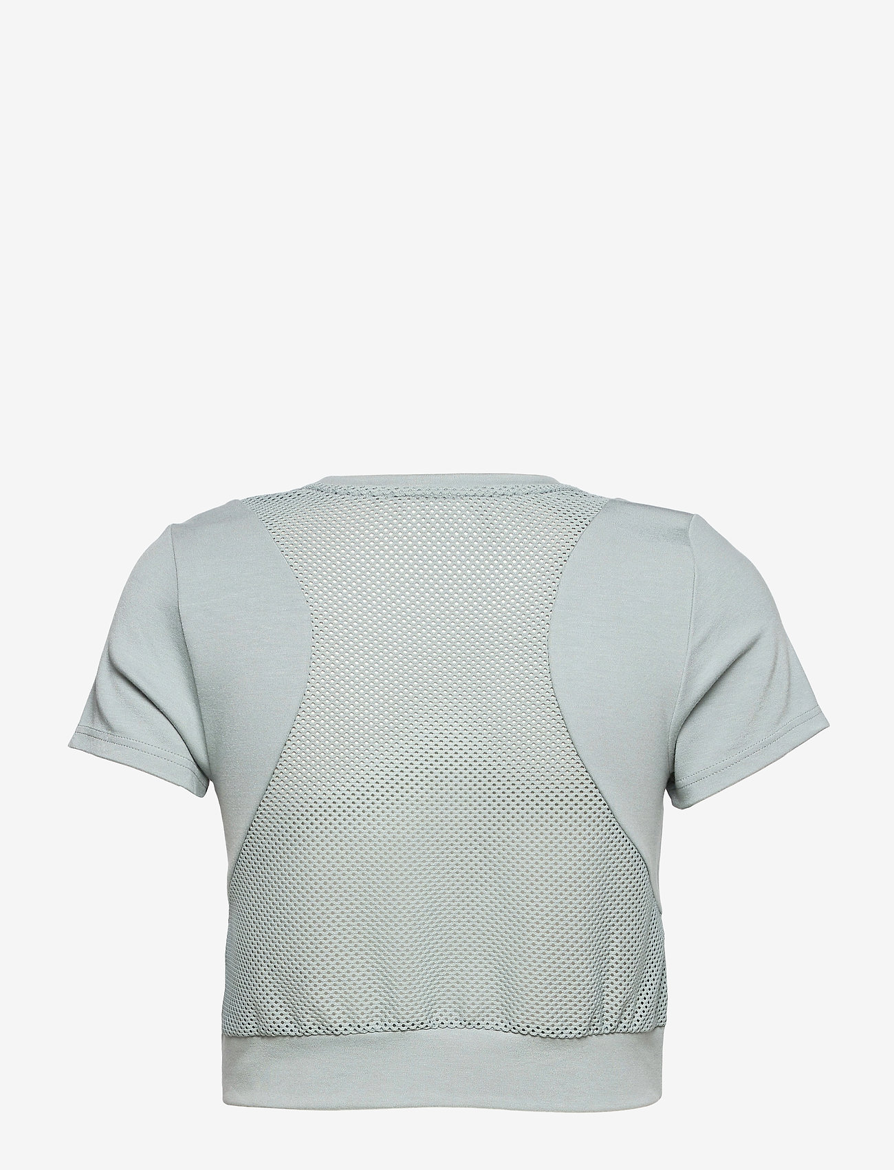 Calvin Klein Performance - PW - MESH BACK CROPPED T-SHIRT - crop tops - blushing green - 1