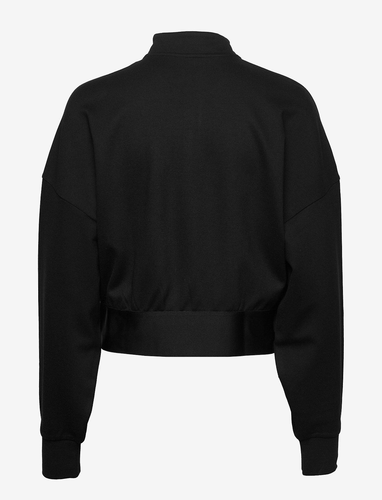Calvin Klein Performance - 1/4 ZIP PULLOVER - crop tops - ck black - 1