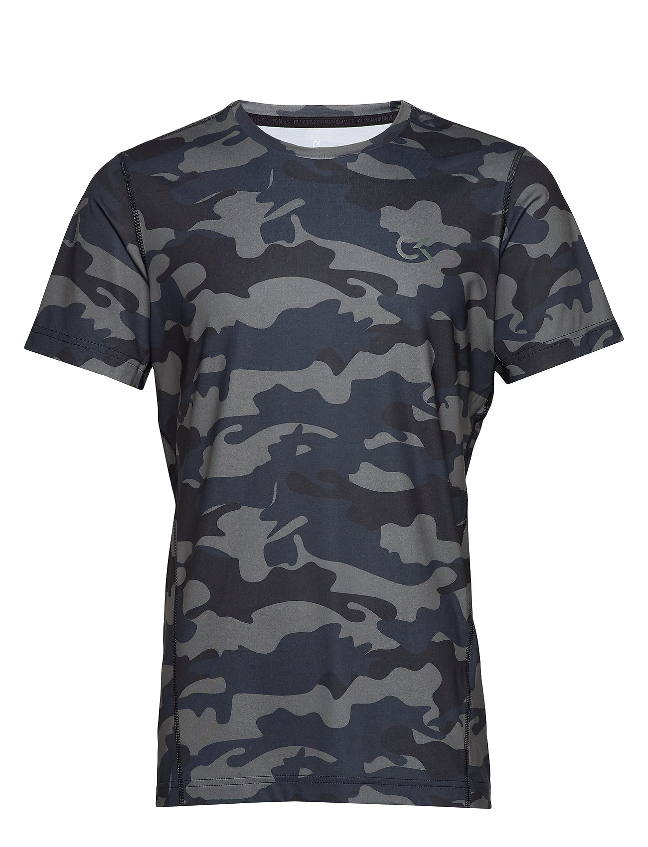 Calvin Klein Performance PERFECT WORKOUT SS TEE - BLACK CAMO