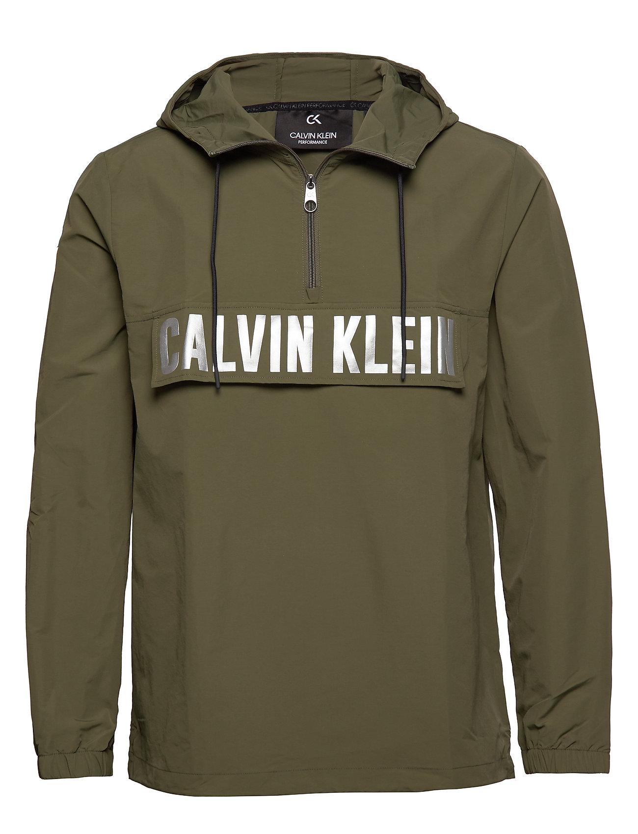 Calvin Klein Performance 1/2 ZIP WOVEN JACKET - GRAPE LEAF