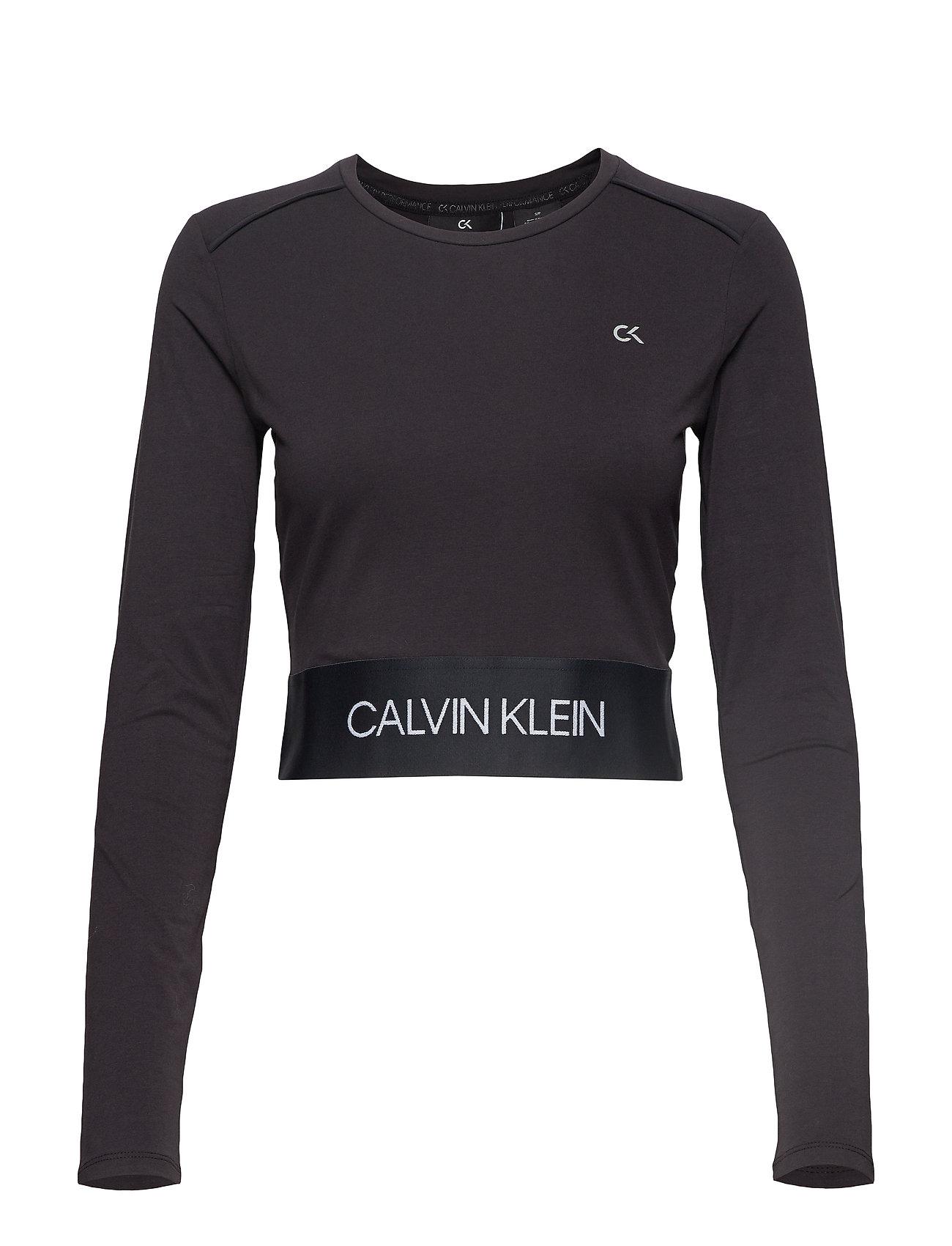Calvin Klein Performance LONG SLEEVE TEE - CK BLACK