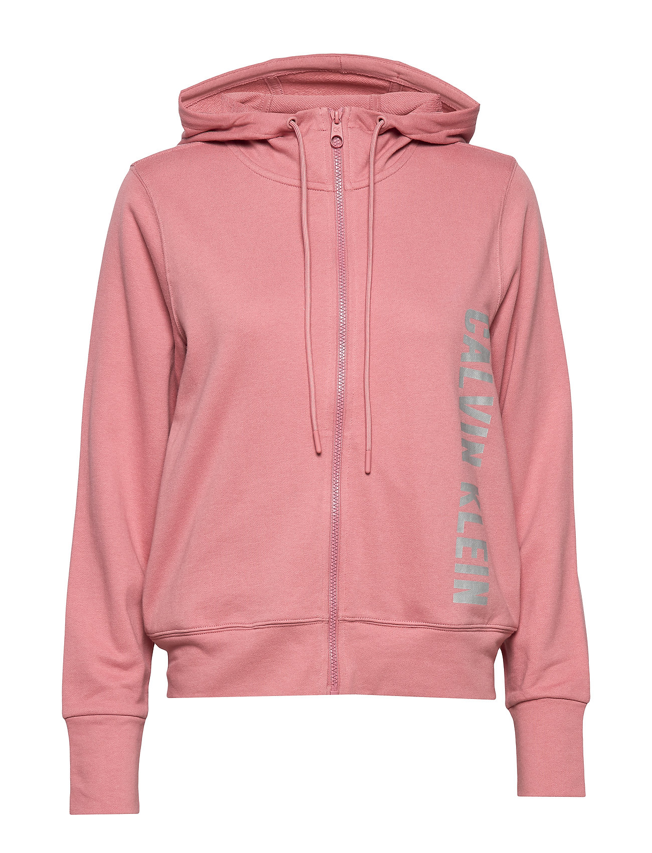 Calvin Klein Performance FULL ZIP HOODED JACKET - DUSTY PINK