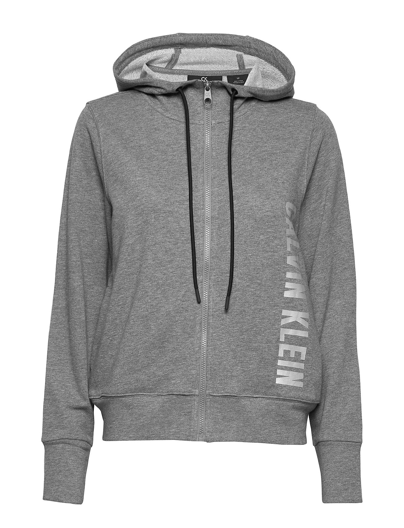 Calvin Klein Performance FULL ZIP HOODED JACKET - MEDIUM GREY HEATHER