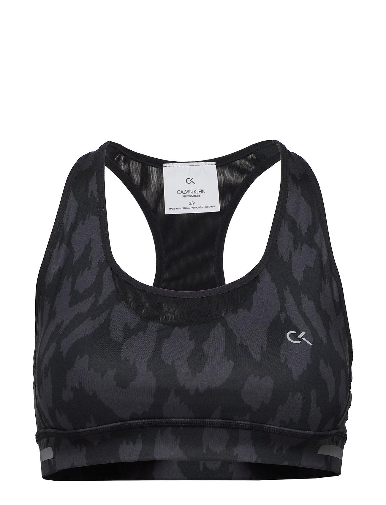 Calvin Klein Performance MEDIUM SUPPORT SPORTS BRA - CK BLACK
