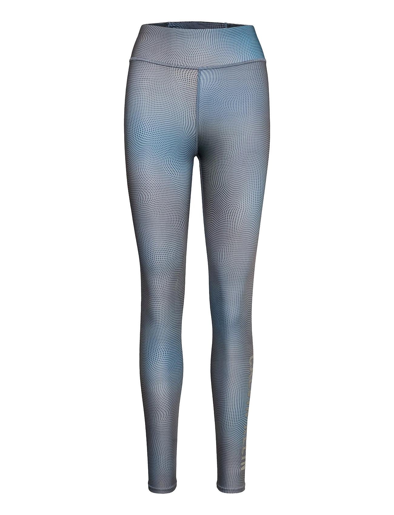 Image of Wo - Aop Full Length Tight Running/training Tights Blå Calvin Klein Performance (3513566719)