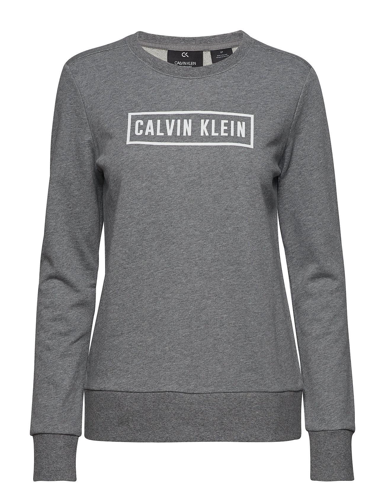 Image of Pullover Sweatshirt Trøje Grå CALVIN KLEIN PERFORMANCE (3220986681)