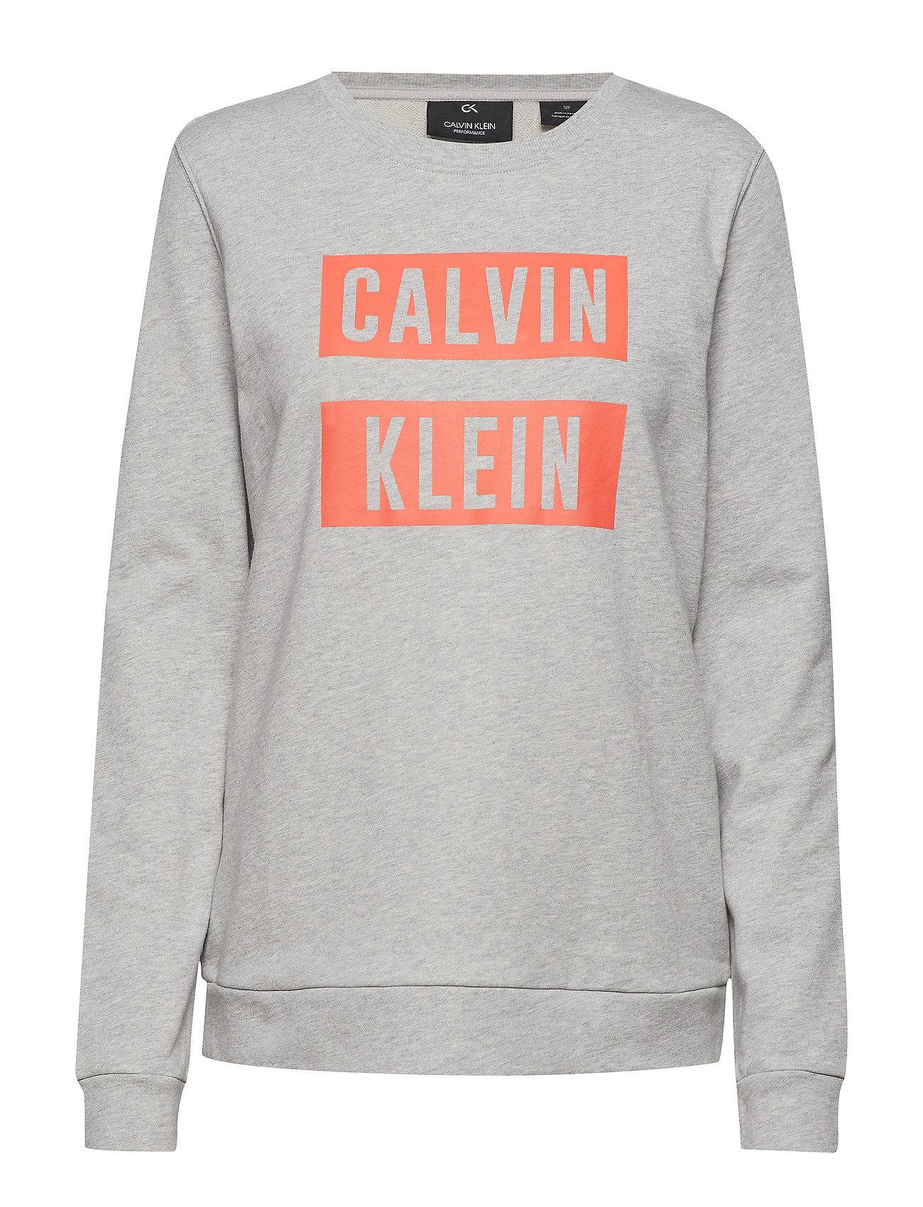 Grey hot Heather Pulloverlight Logo CoralCalvin Performance Klein W2HE9YID
