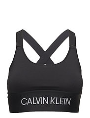 CROSS BACK SPORTS BRA - CK BLACK