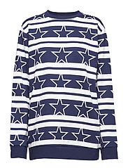 PULLOVER PRINT - STARS STRIPE_EVENING BLUE