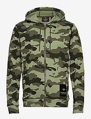 Calvin Klein Performance - FULL ZIP HOODED JACKET - hoodies - grape leaf camo - 0