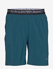 Calvin Klein Performance - WOVEN SHORT - training korte broek - majolica blue/ck black/bright - 0