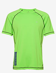 Calvin Klein Performance - SHORT SLEEVE T-SHIRT - sports tops - green flash/green flash/majoli - 0