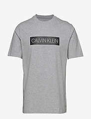 Calvin Klein Performance - SHORT SLEEVE T-SHIRT - sports tops - lt grey heather/ck black - 0