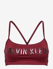 Calvin Klein Performance - LOW SUPPORT BRA - sportbeh''s: low - rouge - 0