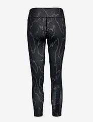 Calvin Klein Performance - 7/8 TIGHT - running & training tights - ck black abstract - 1