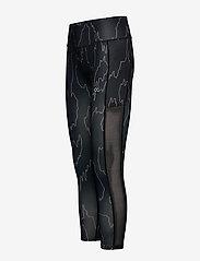 Calvin Klein Performance - 7/8 TIGHT - running & training tights - ck black abstract - 2