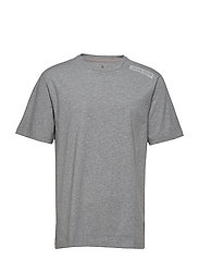 SS TEE LOGO - MEDIUM GREY HEATHER