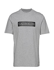 SHORT SLEEVE T-SHIRT - LT GREY HEATHER/CK BLACK