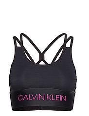 Calvin Klein Performance LIGHT SUPPORT BRA - CK BLACK/PURPLE CACTUS FLOWER