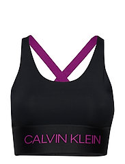Calvin Klein Performance MEDIUM SUPPORT BRA - CK BLACK