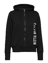 FULL ZIP HOODED JACKET - CK BLACK