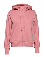 FULL ZIP HOODED JACKET - DUSTY PINK