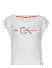 CROPPED SHORT SLEEVE T-SHIRT - BRIGHT WHITE