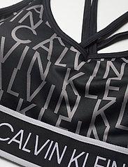 Calvin Klein Performance - WO - LOW SUPPORT BRA - sport bras: low - ck black ck aop - 2