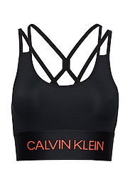 Calvin Klein Performance LOW SUPPORT SPORTS B - CK BLACK/FIERY CORAL