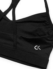 Calvin Klein Performance - LOW SUPPORT BRA - urheiluliivit: matala tuki - ck black - 3