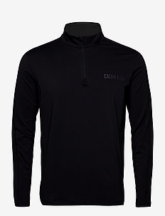 1/2 ZIP LONG SLEEVE T-SHIRT - top met lange mouwen - ck black
