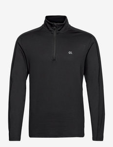 WO - 1/4 Zip L/S T-Shirt - bluzki z długim rękawem - ck black