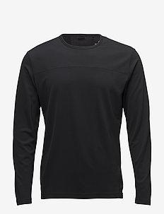LS TEE - longsleeved tops - ck black