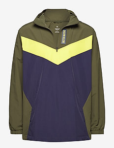 WOVEN  1/2 ZIP  JACKET CB - training jackets - forest night/evening blue/gold