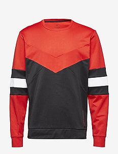 PULLOVER CB - sweatshirts - ck black/racing red/bright whi