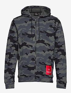 FULL ZIP HOODED JACKET - hoodies - ck black camo