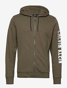 FULL ZIP HOODED JACKET - hoodies - grape leaf