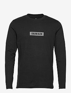 PW - LONG SLEEVE T-SHIRT - langarmshirts - ck black