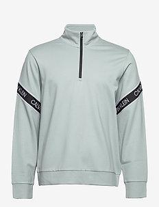 PW - 1/4 ZIP PULLOVER - basic-sweatshirts - blushing green