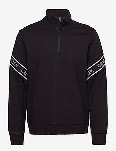 PW - 1/4 ZIP PULLOVER - basic-sweatshirts - ck black