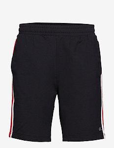 KNIT SHORT - sports shorts - ck black/high risk red/coconut