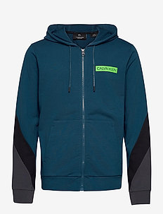 FULL ZIP HOODED JACKET - basic sweatshirts - majolica blue/ck black/gunmeta