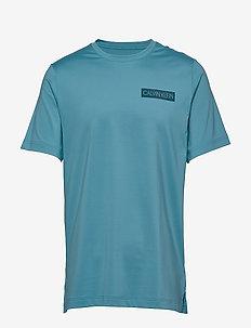 SHORT SLEEVE T-SHIRT - sports tops - blue moon/majolica blue
