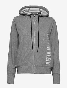 FULL ZIP HOODED JACKET - hoodies - medium grey heather