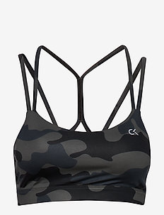 MEDIUM SUPPORT BRA - sport bras: medium - ck black camo