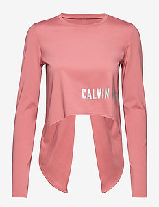 LONG SLEEVE T-SHIRT - crop tops - dusty pink