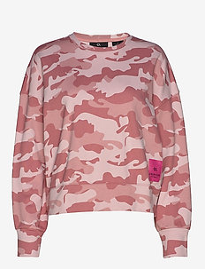 CROPPED PULLOVER - DUSTY PINK CAMO